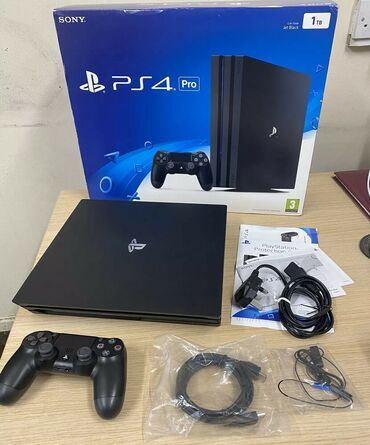 Электроника - Таджикистан: Boxed Sony Playstation 4 Pro 1TB Console Game - 1TB - Jet Black