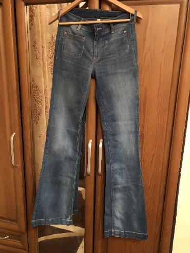 Женские джинсы в Кыргызстан: Продаю джинсы клёш. Фирма Манго. Состояние отличное