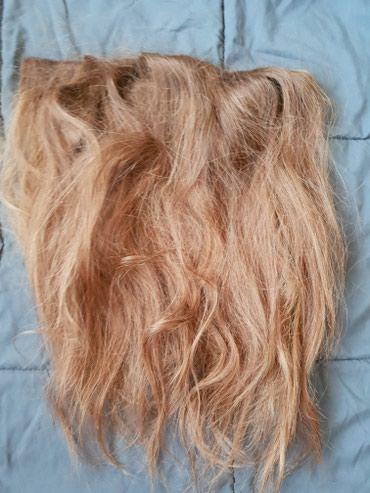 Ostalo - Novi Sad: Prodajem prirodnu kosu na klipse,u 3 reda,bakarno-smedja boja