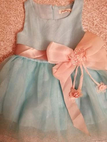 Nezno plava haljinica,sa masnom. - Cacak