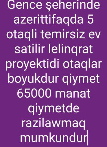 Bakı şəhərində Gence weherinde 5 otaqli lelinqrat proyektli bina evi satilir 77 kvadr