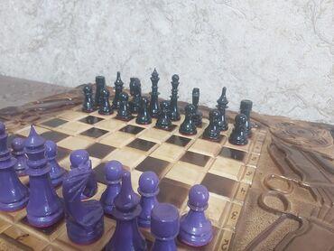 Шахматы - Бишкек: Шахматы+шашки+длинные нарды 3 в 1. Абсолютно новый️. Отлично подойдёт
