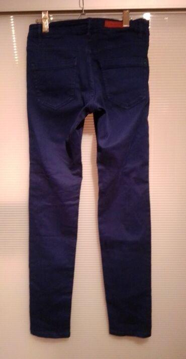 Pantalone tom tailorbroj - Srbija: HM pantalone veličina 36/165, teget boja, pamuk sa elastinom, nemaju