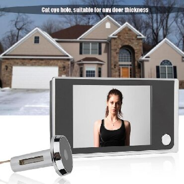 "GZDL 3.5"" LCD Digital Peephole Viewer Door Eye Doorbell HD Camera Home"
