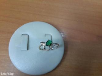 Кольцо с бриллиантами и изумрудом в Бишкек - фото 3
