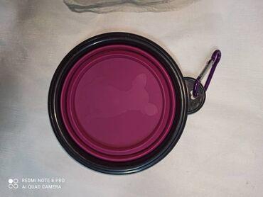 Животные - Ленинское: Продаю пластиковую складывающиеся посуду с карабином которую можно исп