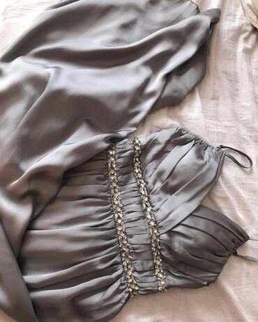 вечернее нарядное платье в Кыргызстан: Продается новое вечернее сатиновое платье Размер S-M. Все бирки на мес
