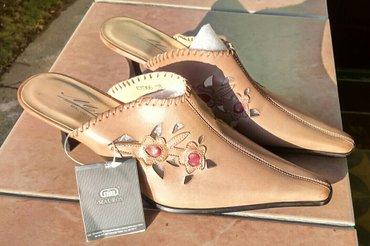 Ženske nove kožne papuče,kupljene u kanadi,br. 38 prodajem po ceni - Rumenka