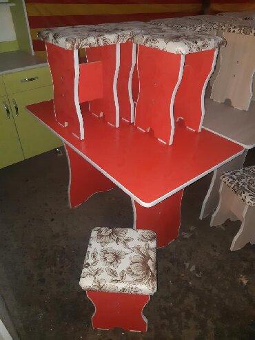 стол на кухню раскладной в Кыргызстан: Стол стулья 3000 стол 6шт стулья 4500 есть доставка
