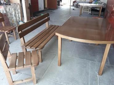 Изготовление на заказ столов скамеек стульев