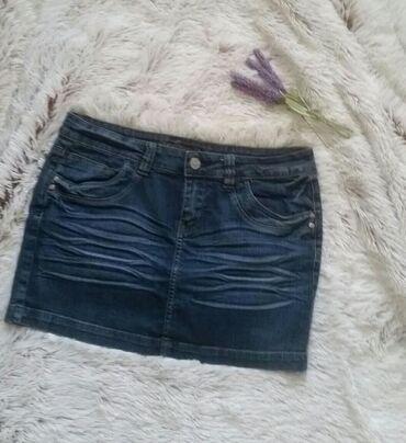 Orsay mini teksas suknja, L vel. Struk 43, duzina 33 cm. Kontakt putem