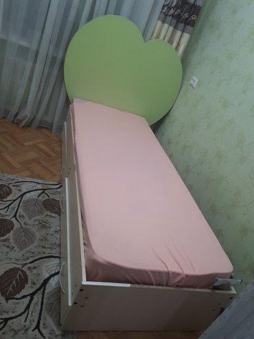 Односпальный кровать с матрасом в Бишкек