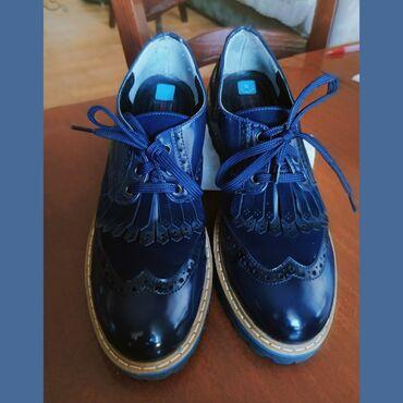 Лоферы темно-синего цвета, размер 38-39, куплены в магазине Калифорния