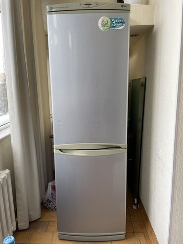 Б/у Двухкамерный Серый холодильник LG