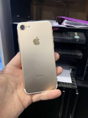 айфон 7 цена in Кыргызстан   APPLE IPHONE: IPhone 7   32 ГБ   Золотой Б/У   Гарантия, Отпечаток пальца