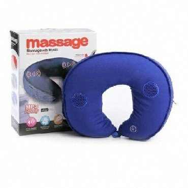 Фундаментные подушки - Кыргызстан: Массажная подушка с вибрацией Massage Pillow with Music +бесплатная