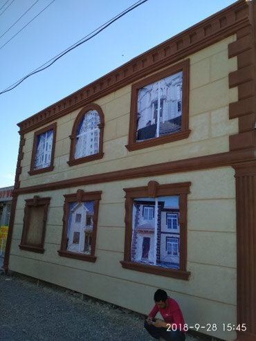 Жидкий травертин декоративные штукатурки делаем элементы на фасад в Бишкек