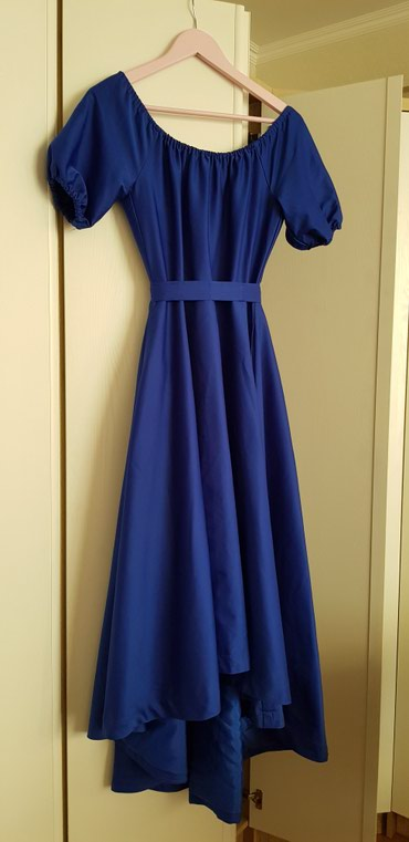 красное длинное платье в пол в Кыргызстан: Продаю платья б/у в отличном cостоянии, размеры s/xs 1) синее атласное