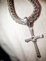 Серебро 925 проба. Цепь 122 грамма и крест торетто из К/Ф Форсаж в Лебединовка