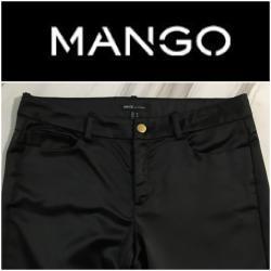 Svecane pantalone - Srbija: *** MANGO *** crne satenske 38 - kao noveCrne satenske pantalone
