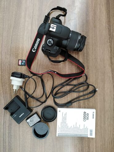 Canon EOS 4000D Kit 18-55Heç bir probıemi yoxdur.Çox az isdifadə