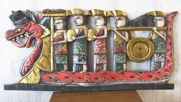 DRVENI UKRAS SA BALIJA* Na prodaju ručno rađeni drveni ukras koji je