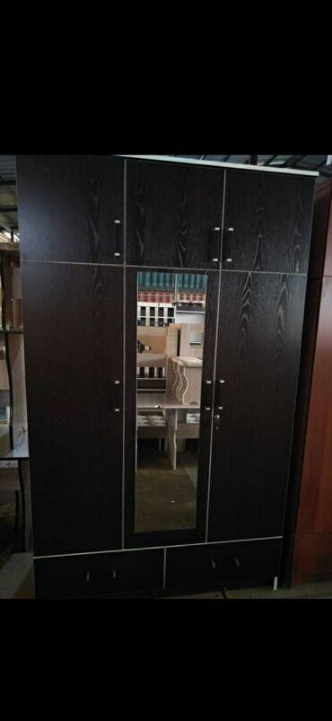 bu shifoner в Кыргызстан: Новые трехдверные шкафы из российкого материала ЛДСП1.30*2.15В наличии
