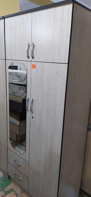 Новые двухдверные шкафы с зеркалом. 6000 сом с бесплатной доставкой по