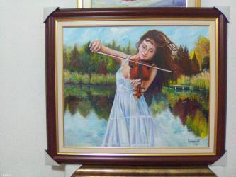 Ulje na platnu 60x50 cm opremljena ramom koji je prikazan na - Smederevo
