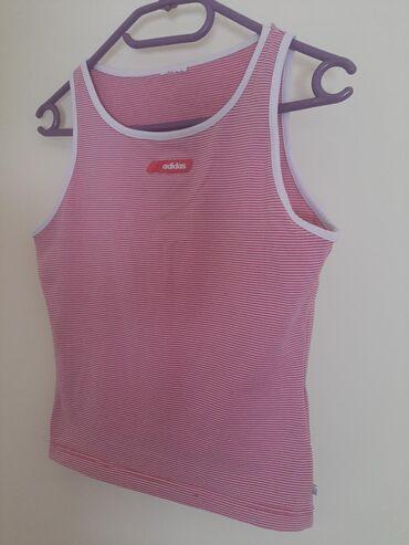 Majica xs - Srbija: ADIDAS majica sa gumiranim logom. Vel XS