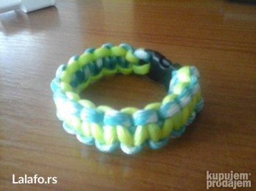 Paracord narukvica za preživljavanje bracelet narukvica flou zuto - Bela Crkva