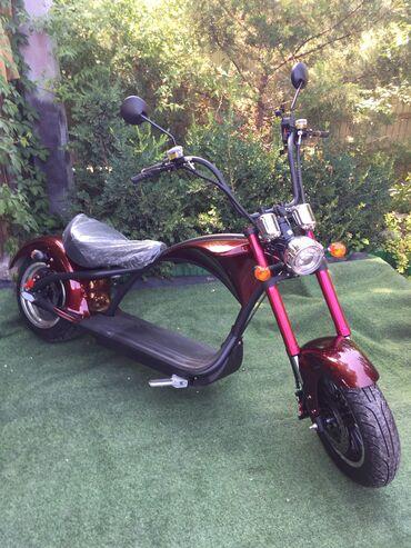 Красавец электромопед Harley в наличии. Бордовый и чёрный цвет. Зак