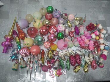 елочные игрушки в Кыргызстан: Продаю советские ёлочные игрушки стеклянные