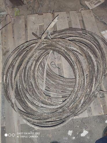 Трос от лифта диаметр 18 мм длина 20 м есть 5 шт советский