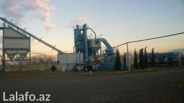 Gəncə şəhərində Mehsuldarligi 90-120 ton/saat olan asfaltzavod satilir,