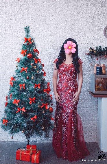 платье вышиванка на выпускной в Кыргызстан: Продаю вечернее платье «Зимняя вишня», одевала всего 2 раза на