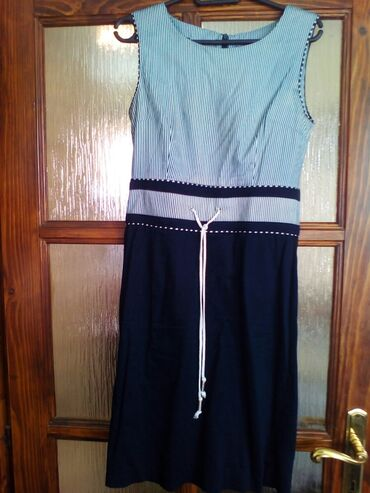 Din haljina - Srbija: Alegrina haljina, mornarski still, broj 38, strukirana, malo iznad