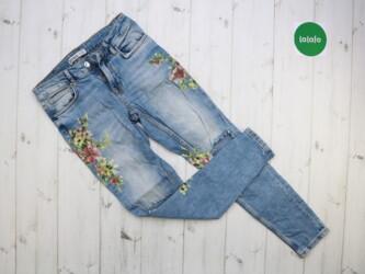 Жіночі джинси з квітами і дірками Zara, р.XS    Довжина: 88 см Довжина