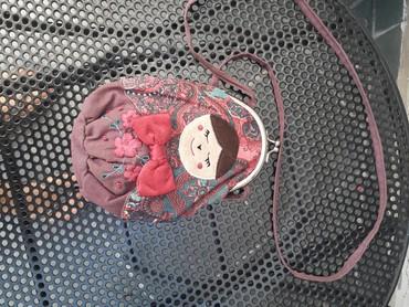 Bordo torbica - Srbija: MONSOON Torbica za devojcice ljubicasta sa bordo