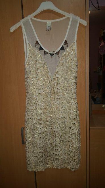 Beli zlatna haljina, nova jako lepo stoji. - Kostolac