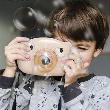 Машина для пускания мыльных пузырей в виде детской камеры Bubble Camer