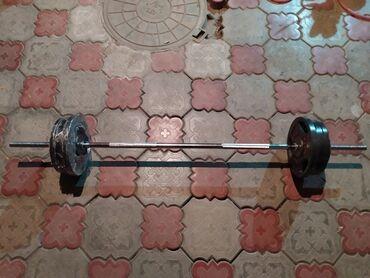 гантели 50 кг в Кыргызстан: Штанга новая  Вес 50 кг. Гриф длина 1,5м