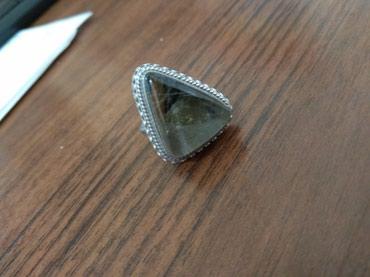 Кольцо серебряное. 17-18 р. камень натуральный. вещи в профиле в Бишкек