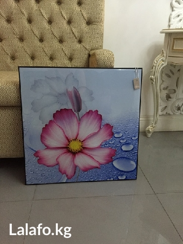 картина новая под стеклом, размер 60 см х 60 см в Бишкек