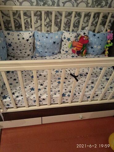 Продаю детскую кроватку 3в1. Материал дерево натуральное Береза. Люльк