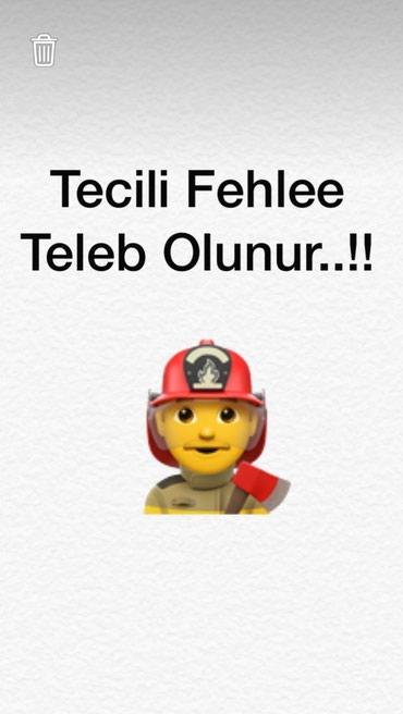 Bakı şəhərində Tikinti sirketine tecili fehle teleb olunur..