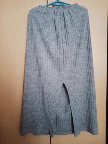 Ženska duga štrikana suknja,univerzalna veličina