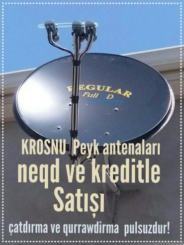 Bakı şəhərində Krosnu Krosna  Peyk Tv Antena  neqd və ya kredit