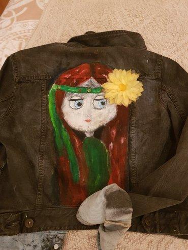 Bakı şəhərində Куртка джинсовая , рисунок Handmade