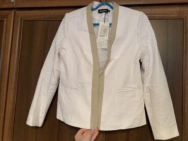 Другая женская одежда - Кыргызстан: Льняной пиджак, размер 48, абсолютно новый, с этикеткой,  отдадим за